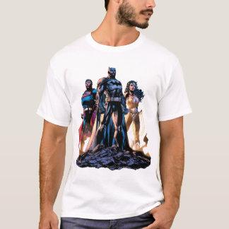 スーパーマン、バットマン、及びワンダーウーマンの三位一体 Tシャツ