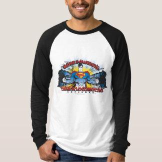 スーパーマン- 2本の列車 Tシャツ