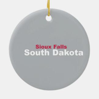 スーフォールズのサウスダコタのオーナメント セラミックオーナメント