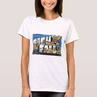 スーフォールズ、サウスダコタからの挨拶! レトロ Tシャツ