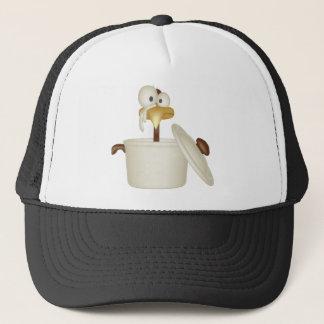 スープトラック運転手の帽子の鶏 キャップ