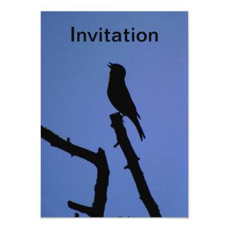 ズアオアトリの歌う招待状 カード
