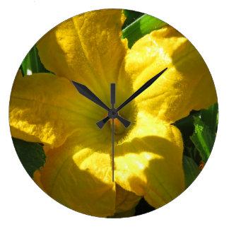 ズッキーニの花 ラージ壁時計