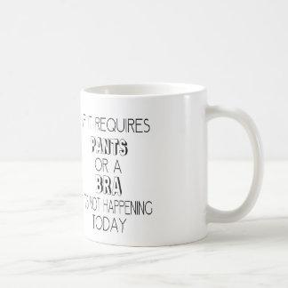ズボンかブラを要求すれば、起こっていません コーヒーマグカップ