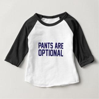 ズボンは任意です ベビーTシャツ