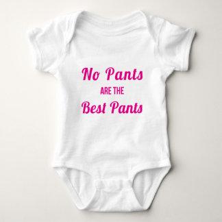 ズボンは最も最高のなズボンのピンクではないです ベビーボディスーツ