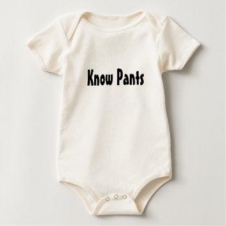ズボンを知って下さい ベビーボディスーツ