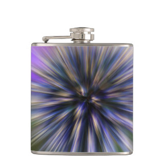 ズームレンズの花のデジタル紫色および緑の芸術 フラスク