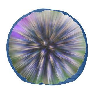 ズームレンズの花のデジタル紫色および緑の芸術 プーフ