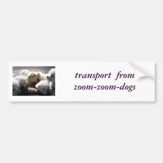 ズームレンズズームレンズ犬からの輸送 バンパーステッカー