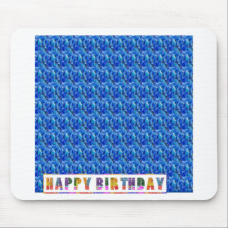 ズームレンズnは大きい写真-青い妖精の質のおもしろい--を見ます マウスパッド