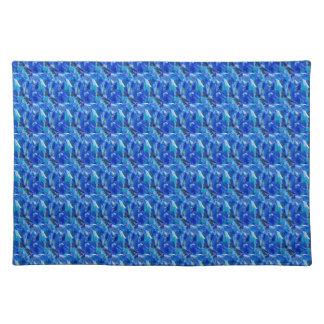ズームレンズnは大きい写真-青い妖精の質のおもしろい--を見ます ランチョンマット