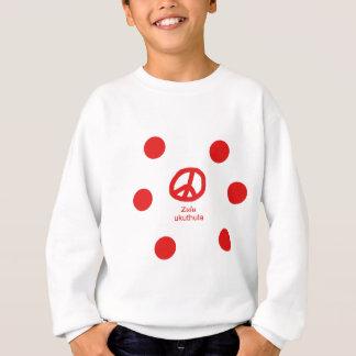 ズールーの言語およびピースマークのデザイン スウェットシャツ