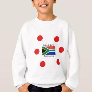 ズールー(isiZulu)の言語および南アフリカ共和国の旗 スウェットシャツ