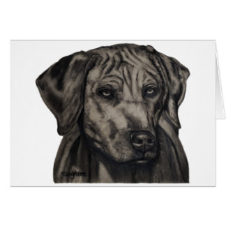 ズールー- Rhodesian Ridgeback犬の芸術 カード