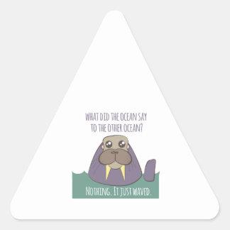 セイウチの冗談 三角形シール