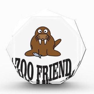 セイウチの動物園の友人 表彰盾