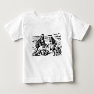 セイウチ、Carpeterおよびカキ ベビーTシャツ