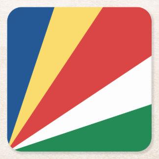 セイシェルの旗 スクエアペーパーコースター