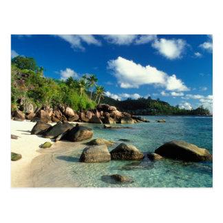 セイシェルのMaheの島、Anse Royaleのビーチ。 3 ポストカード