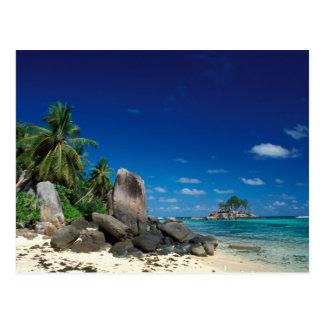 セイシェルのMaheの島、Anse Royale浜 ポストカード