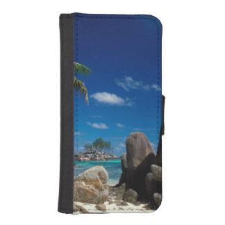 セイシェルのMaheの島、Anse Royale浜 iPhoneSE/5/5sウォレットケース