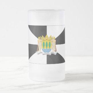 セウタの旗 フロストグラスビールジョッキ