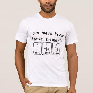 セオの周期表の名前のワイシャツ Tシャツ