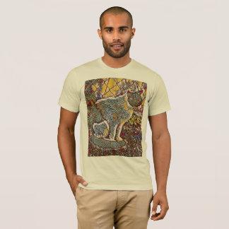 セオドアのガラス絵画クリーム Tシャツ