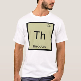 セオドア一流化学要素の周期表 Tシャツ