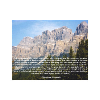セオドア・ルーズベルトのやる気を起こさせるな引用文のキャンバス キャンバスプリント