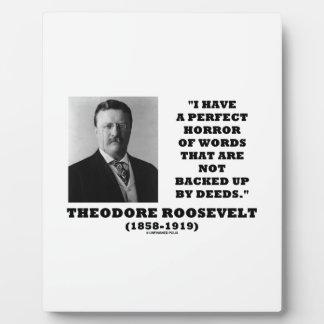 セオドア・ルーズベルトの完全な恐怖は行為を言い表わします フォトプラーク