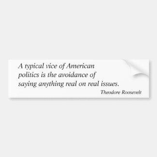 セオドア・ルーズベルトの引用文4 バンパーステッカー