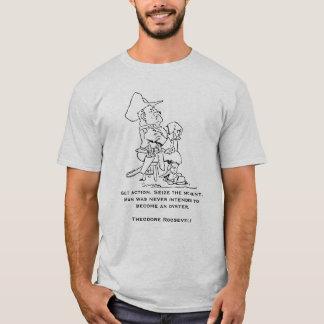 セオドア・ルーズベルトの引用文 Tシャツ