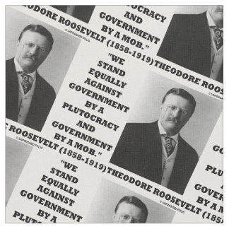 セオドア・ルーズベルトの立場の政府の金権国家の暴徒 ファブリック