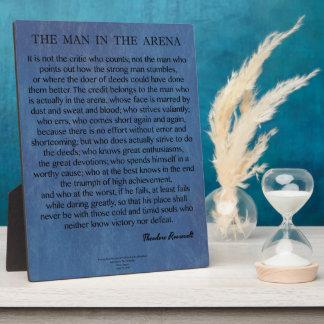 セオドア・ルーズベルト著競技場の引用文の人 フォトプラーク