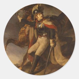 セオドアGericault著けが人の胸甲騎兵 ラウンドシール