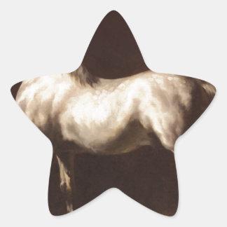 セオドアGericault著まだらにの灰色の勉強 星シール
