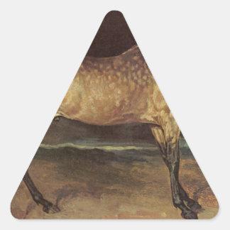セオドアGericault著嵐の馬 三角形シール
