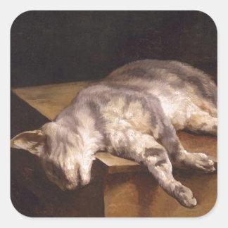 セオドアGericault著死んだ猫 スクエアシール