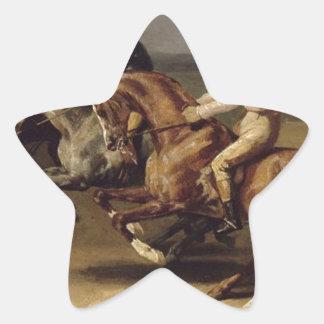 セオドアGericault著競馬 星シール