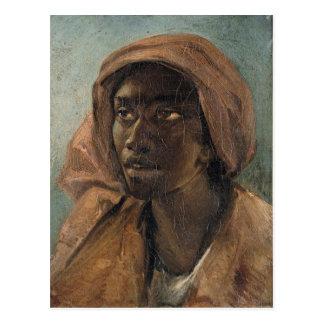 セオドアGericault著若い黒人の女性 ポストカード