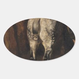 セオドアGericault著馬の3つの臀部 楕円形シール