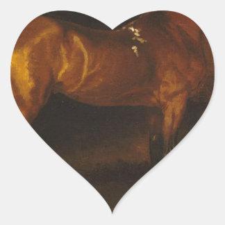 セオドアGericault著馬小屋のスペインのな馬 ハートシール