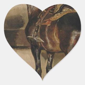 セオドアGericault著馬小屋のトルコの馬 ハートシール