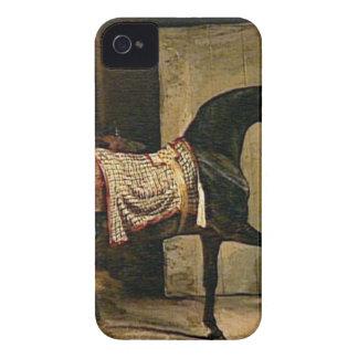 セオドアGericault著馬小屋を去っている馬 Case-Mate iPhone 4 ケース