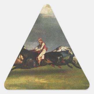 セオドアGericault著Epsomダービー 三角形シール