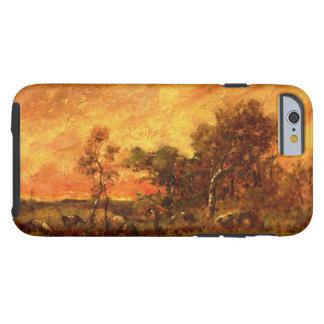 セオドアRousseauの樹木が茂った景色のヴィンテージの芸術 ケース