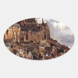 セオドアRousseau著Mont聖者マイケル 楕円形シール