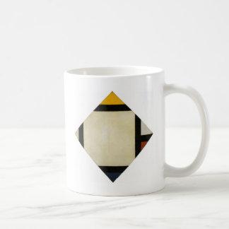 セオvan Doesburg著反対の構成VII コーヒーマグカップ